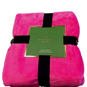 Kate Spade hot pink fleece blanket